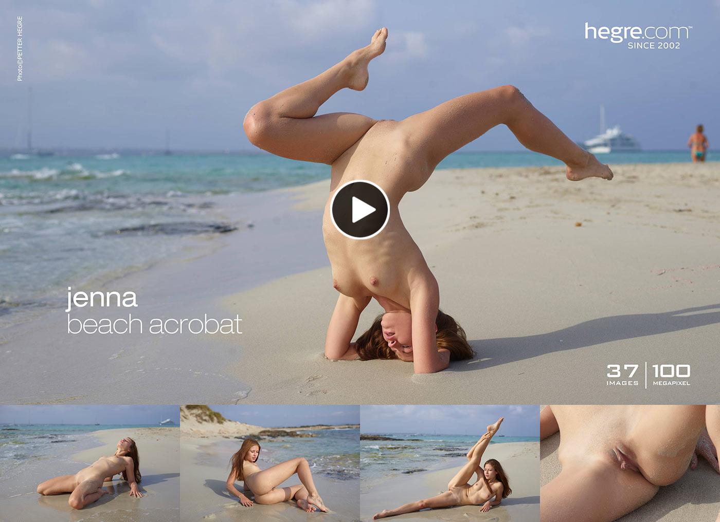 Jenna Hegre Beach Acrobat