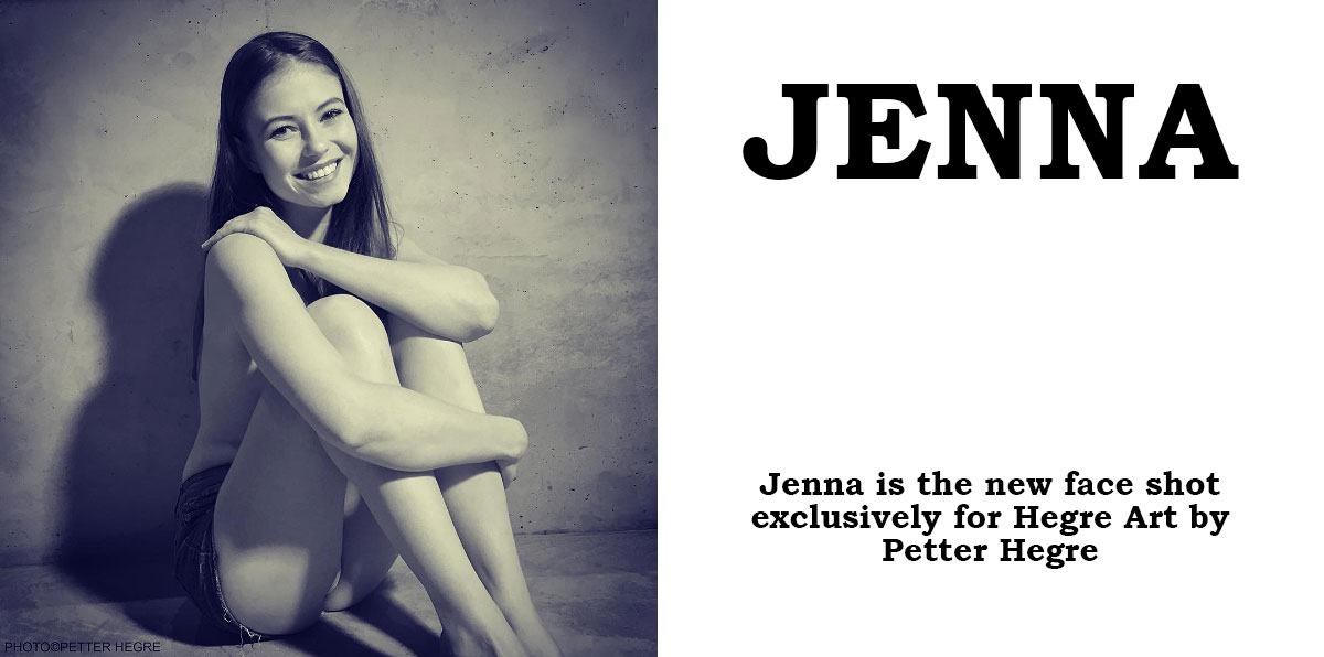 Jenna is the new face shot by Petter Hegre