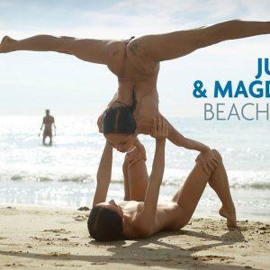 Julietta and Magdalena beach nude Hegre Art