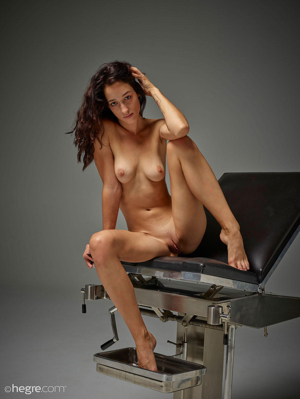 Hard body girl nude self pics